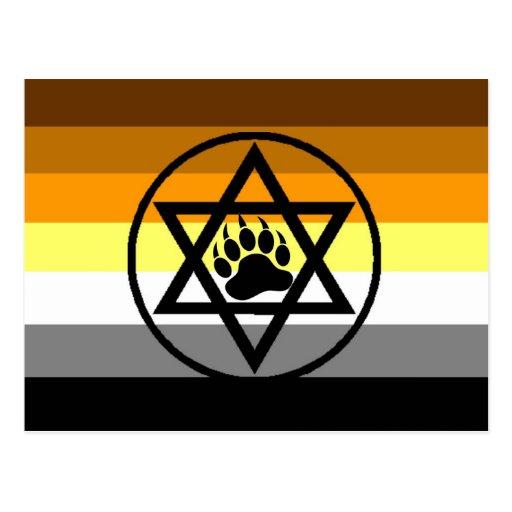 Bandera judía del orgullo del oso postales