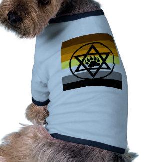 Bandera judía del orgullo del oso camiseta con mangas para perro