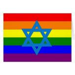 Bandera judía del orgullo gay felicitaciones