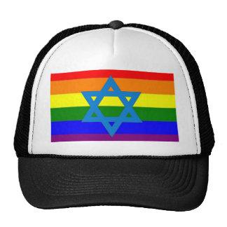 Bandera judía del orgullo gay gorras de camionero