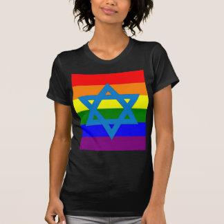 Bandera judía del orgullo gay playera