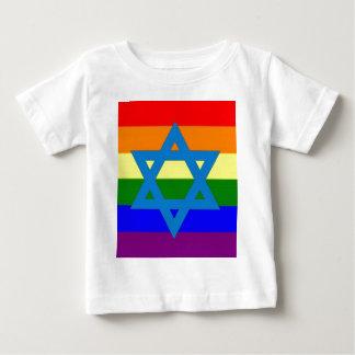 Bandera judía del orgullo gay playeras
