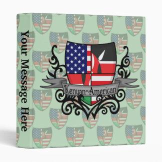 "Bandera Kenyan-Americana del escudo Carpeta 1"""