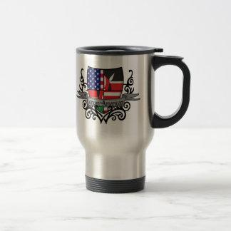 Bandera Kenyan-Americana del escudo Tazas