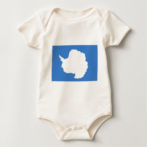 Bandera la Antártida de Graham Bartram Body De Bebé