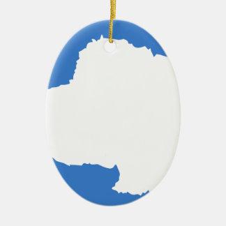 Bandera la Antártida de Graham Bartram Ornamentos Para Reyes Magos
