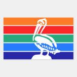 Bandera la Florida América de la ciudad de St Rectangular Pegatina