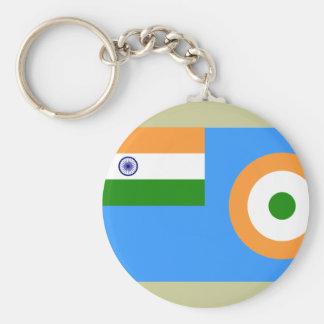 Bandera la fuerza aérea india, la India Llavero Redondo Tipo Pin