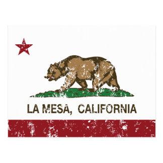 Bandera La Mesa del estado de California Postal