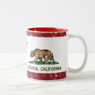 Bandera La Quinta del estado de California Taza De Café De Dos Colores