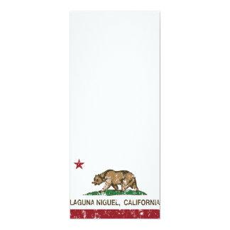 """Bandera Laguna Niguel del estado de California Invitación 4"""" X 9.25"""""""