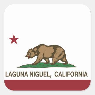 Bandera Laguna Niguel del estado de California Pegatina Cuadrada