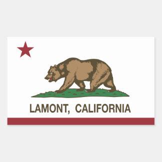 Bandera Lamont de la república de California Pegatina Rectangular