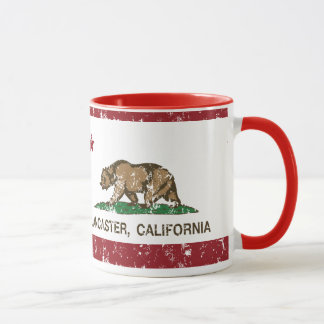 Bandera Lancaster del estado de California Taza