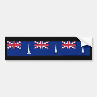 Bandera las comisiones británicas Northern Lightho Etiqueta De Parachoque