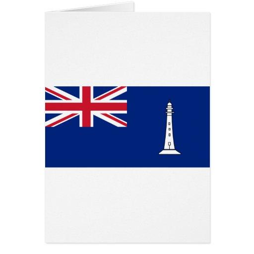 Bandera las comisiones británicas Northern Lightho Tarjeta De Felicitación