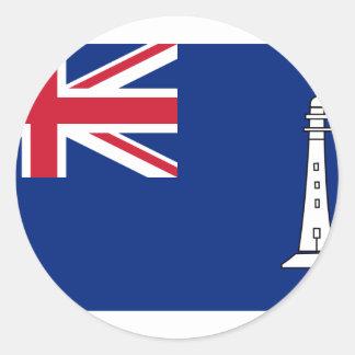 Bandera las comisiones británicas Northern Pegatina Redonda