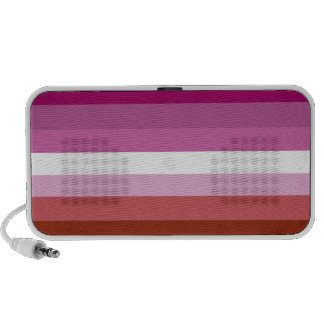 Bandera lesbiana del orgullo iPhone altavoz