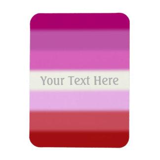 Bandera lesbiana del orgullo de Falln Imanes De Vinilo