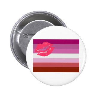 Bandera lesbiana del orgullo del lápiz labial pins