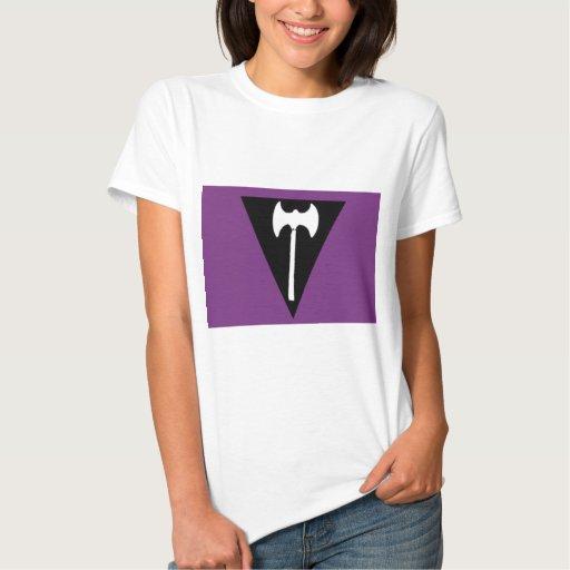 Bandera lesbiana del orgullo remera