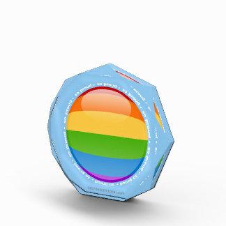 Bandera lesbiana gay de la burbuja del orgullo del