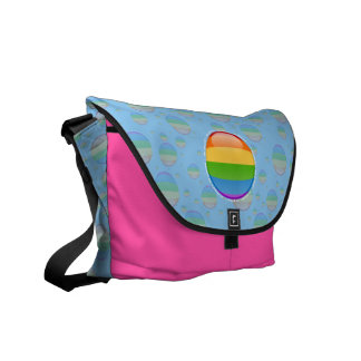 Bandera lesbiana gay de la burbuja del orgullo del bolsa de mensajeria