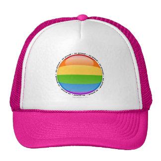 Bandera lesbiana gay de la burbuja del orgullo del gorra