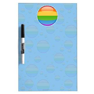 Bandera lesbiana gay de la burbuja del orgullo del pizarra