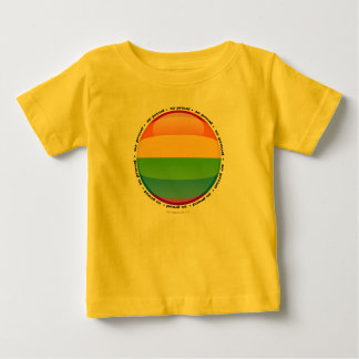 Bandera lesbiana gay de la burbuja del orgullo del playeras