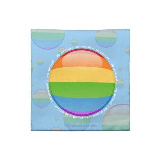 Bandera lesbiana gay de la burbuja del orgullo del servilleta
