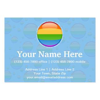 Bandera lesbiana gay de la burbuja del orgullo del tarjetas de visita