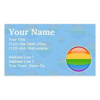 Bandera lesbiana gay de la burbuja del orgullo del plantillas de tarjetas de visita