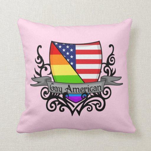 Bandera lesbiana gay del escudo del orgullo del ar almohadas