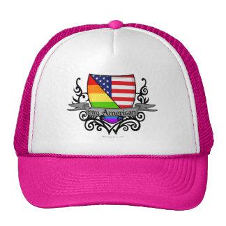 Bandera lesbiana gay del escudo del orgullo del ar gorra