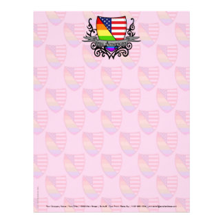 Bandera lesbiana gay del escudo del orgullo del ar membrete a diseño