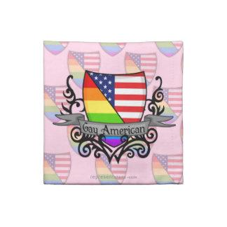 Bandera lesbiana gay del escudo del orgullo del ar servilleta imprimida