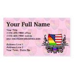 Bandera lesbiana gay del escudo del orgullo del ar plantillas de tarjetas personales