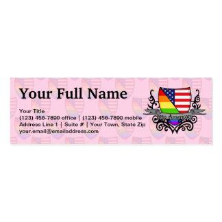Bandera lesbiana gay del escudo del orgullo del ar plantillas de tarjetas de visita