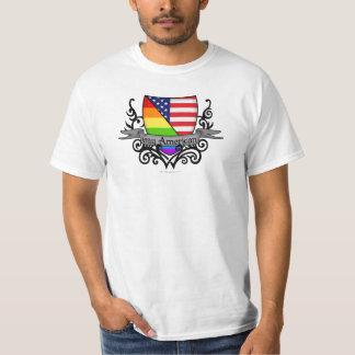 Bandera lesbiana gay del escudo del orgullo del poleras