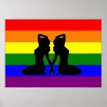 Bandera lesbiana griega del orgullo impresiones