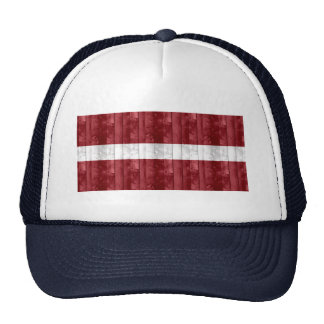 Bandera letona de madera gorra