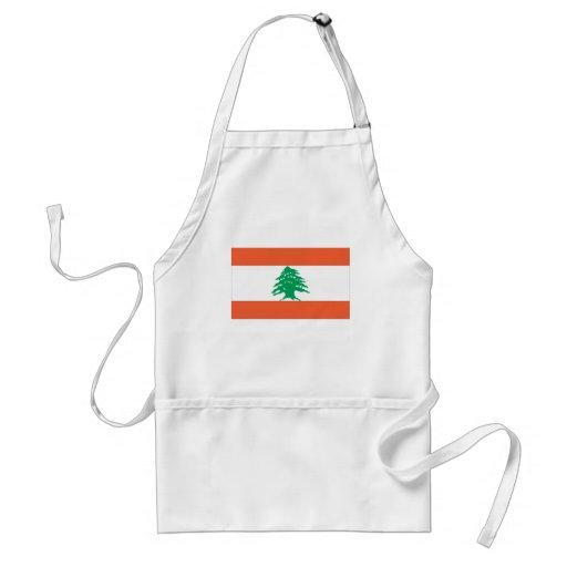 Bandera libanesa delantales