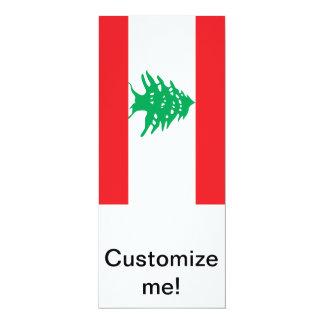 """Bandera libanesa invitación 4"""" x 9.25"""""""