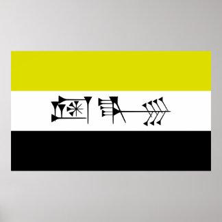bandera libertaria de la libertad de Sumarian del  Impresiones