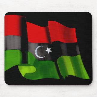 Bandera libia de la bandera de la monarquía de la  alfombrilla de ratones
