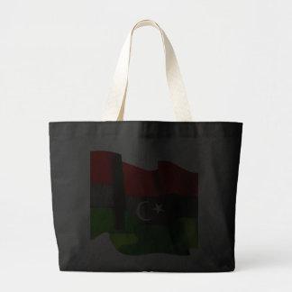 Bandera libia de la bandera de la monarquía de la bolsas de mano