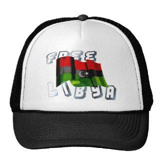 Bandera libia de la bandera de la monarquía de la gorra