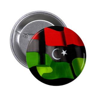 Bandera libia de la bandera de la monarquía de la  pin redondo 5 cm