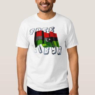Bandera libia de la bandera de la monarquía de la playera